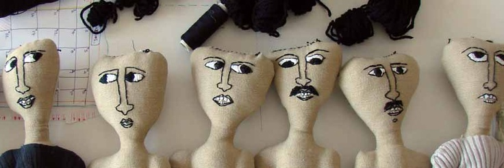 47 'Tsolias' cloth dolls     by greek artist    psarokokalo
