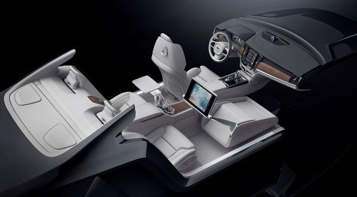 Volvo S90 Excellence interior concept, lujo para la berlina sueca - http://www.actualidadmotor.com/volvo-s90-excellence-interior-concept/