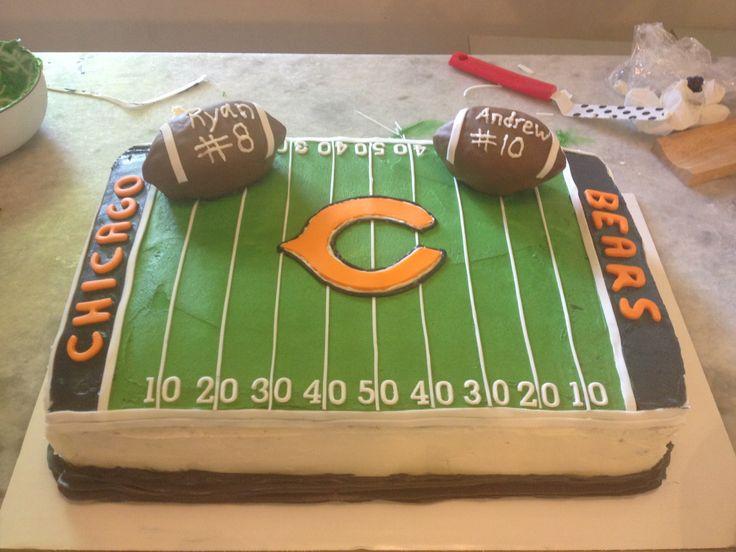 Best 25 Chicago Bears Cake Ideas On Pinterest Chicago