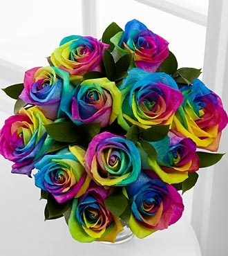 Lisa-Frank-ish rainbow roses from FTD. Someone please send me some!!! http://pinterest.net-pin.info/