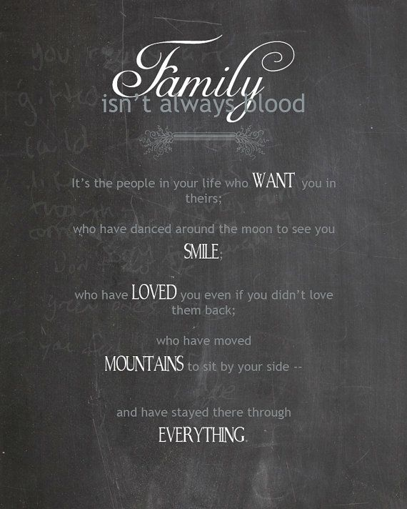 Family Isn't Always Blood 2, Typography, 5x7 Digital File, INSTANT DOWNLOAD