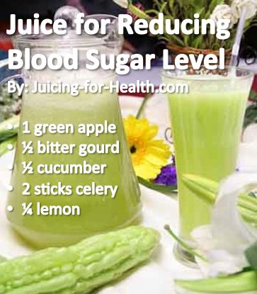 JUICE TO REDUCE BLOOD SUGAR LEVEL Bitter gourd/melon is one of the best  insulin