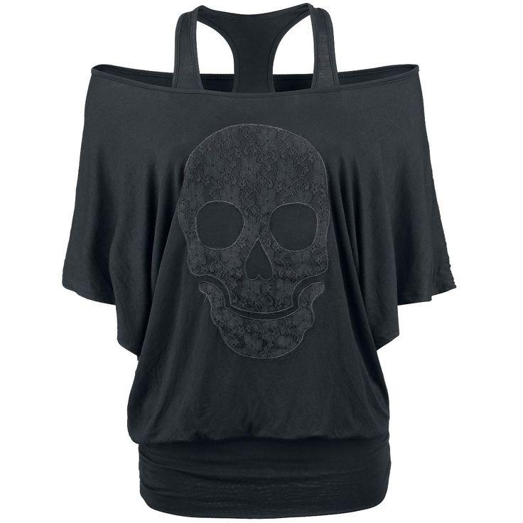Rock Rebel by EMP  T-Shirt  »Lace Skull« | Jetzt bei EMP kaufen | Mehr Rockwear  T-Shirts  online verfügbar ✓ Unschlagbar günstig!