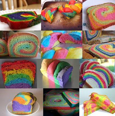 Rainbow Bread ou Pão Arco-íris | Máquina de Pão