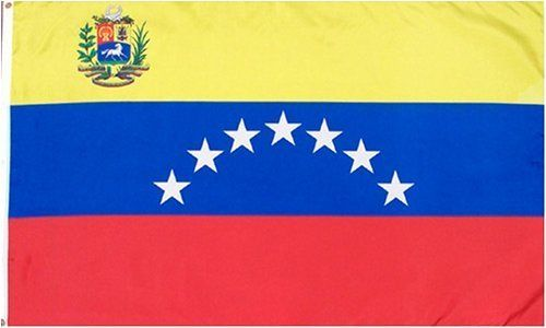 "Venezuela National Country Flag - 3 foot by 5 foot Poly(New) by Country Flags ""U-Z"". $5.25. Express Domestic Shipping is OVERNITE 98% of the time, otherwise 2-day.. 2 Metal Grommets For Eash Mounting with Canvas Hem for long lasting strength. 3 Foot by 5 Foot, Indoor-Outdoor, Lightweight Polyester Flag with Sharp Vivd Colors. FAST SHIPPER: Ships in 1 Business Day; usually the Same Day if pmnt clears by noon CST. Express International Shipping is Global Express..."