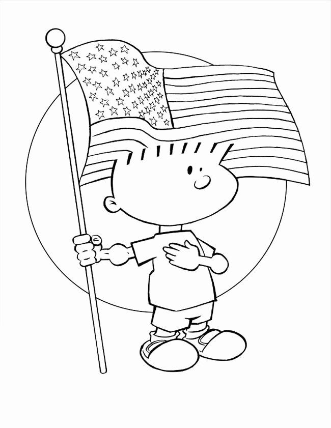 Printable American Flag Coloring Page In 2020 American Flag