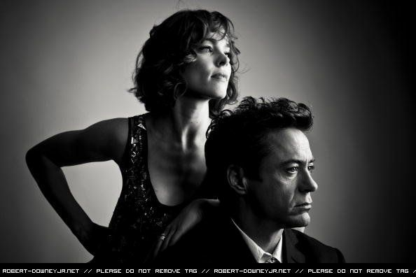 Sherlock and Irene (Robert Downey Jr. and Rachel McAdams)
