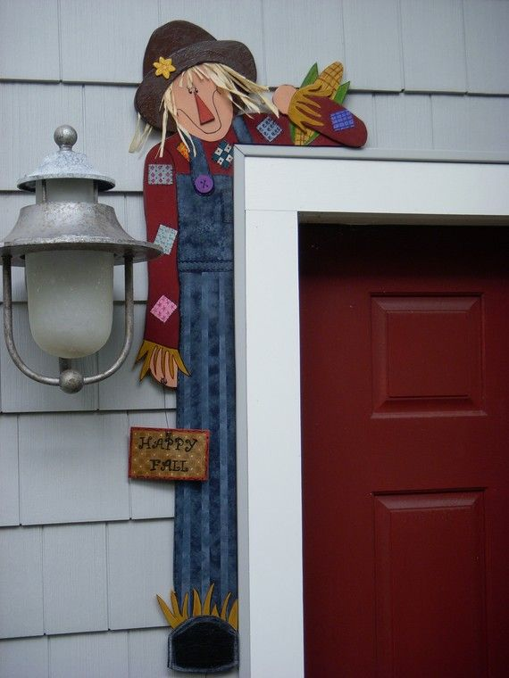 Wood Craft Pattern For Scarecrow Door Hugger by dgangone on Etsy, $5.00