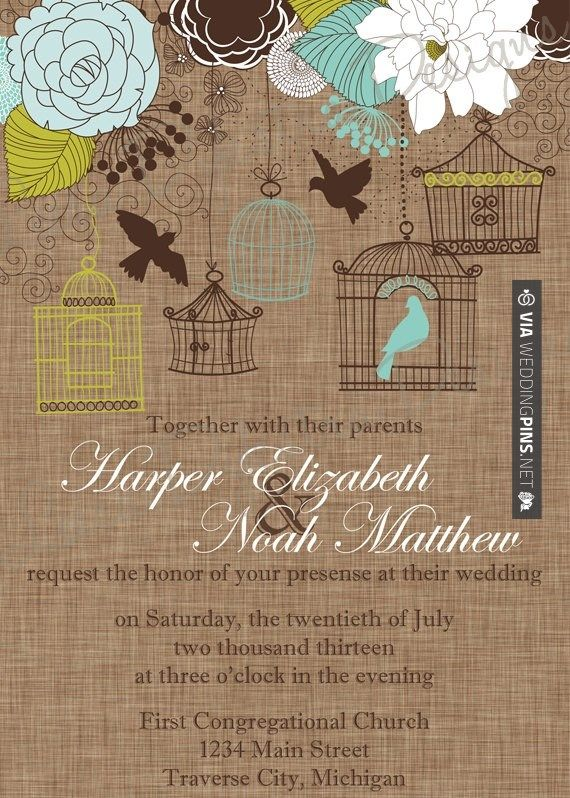 Nice - Cage Wedding Invitation by Leesa Dykstra Designs | CHECK OUT MORE IDEAS AT WEDDINGPINS.NET | #weddings #rustic #rusticwedding #rusticweddings #weddingplanning #coolideas #events #forweddings #vintage #romance #beauty #planners #weddingdecor #vintagewedding #eventplanners #weddingornaments #weddingcake #brides #grooms #weddinginvitations