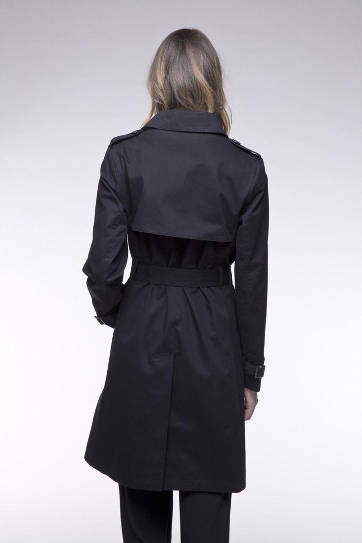 1000 id es sur le th me trench noir femme sur pinterest ceintures. Black Bedroom Furniture Sets. Home Design Ideas