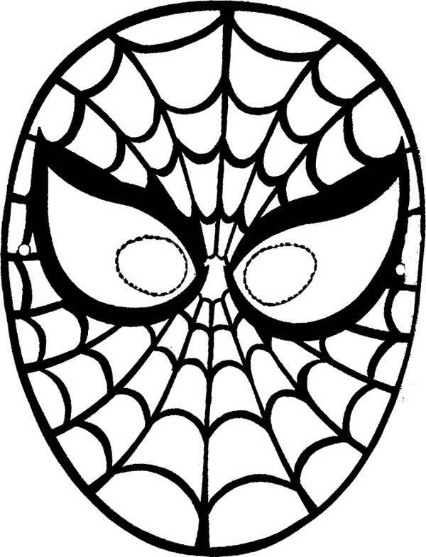Spiderman Mask Coloring Page : Coloring Sky in 2020 ...