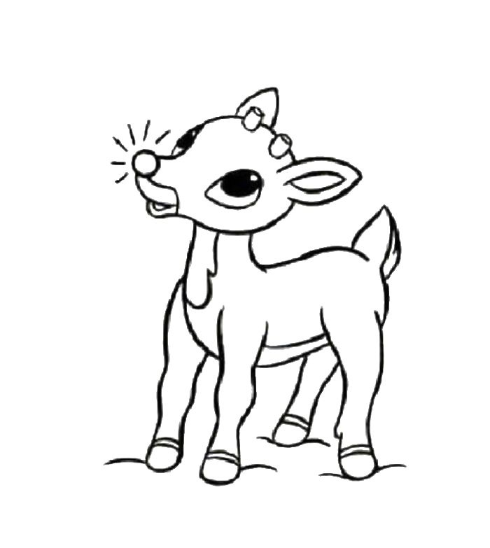 little rudolph in the christmas coloring for kids rudolph coloring pages kidsdrawing free