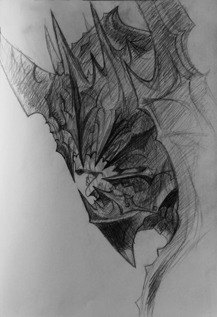 drawing / illustration / mouth of sauron / lord of the ...
