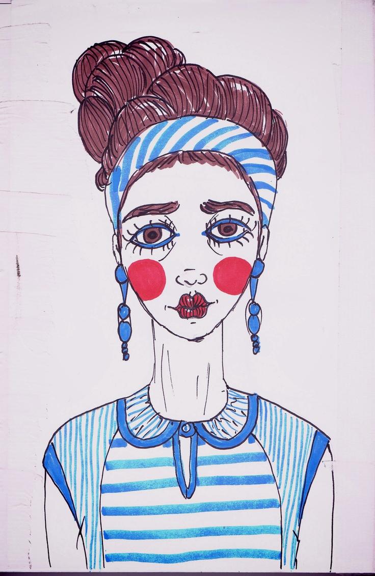 Maria Delicada (sketch) - São Marias project - 2012, by Maria Oliveira.