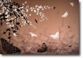 Butterflies and Blossoms Bronze on canvas.  Price: $25  Ships worldwide from http://www.thecanvasartfactory.com.au  #brown #white #children #art #canvas