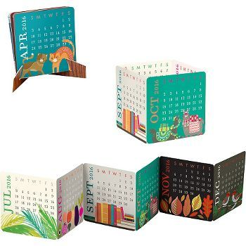 2016 Paper Source Mini Accordion Calendar - This delightful little desk…