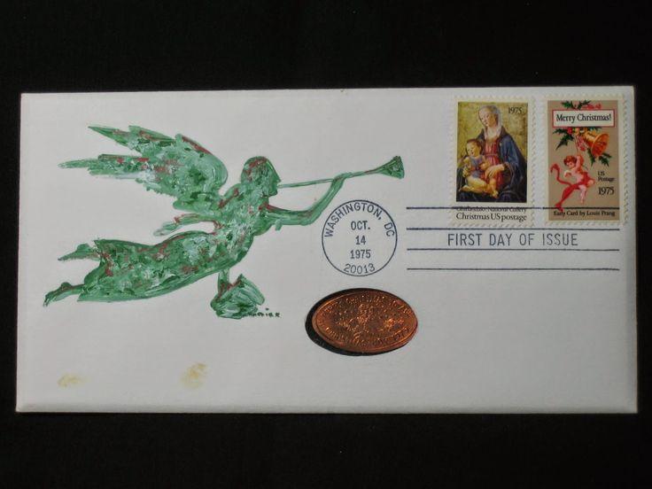 Jonal artcovers 1975 christmas christmas stamps