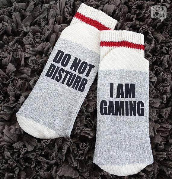 If you can read this, Funny socks, beer socks, wine socks, if you can read this socks, wine/beer socks, funny socks womens, bring me wine socks, mens socks, and so many more socks... **** THIS LISTING IS FOR **** DO NOT DISTURB - IM GAMING FAST PRODUCTION TIME - We will make your order within 3-5 business days (excludes weekends & statutory holidays) and have it shipped out to you after that. Time in transit varies. Please see our Shipping & Policies section for delivery time...