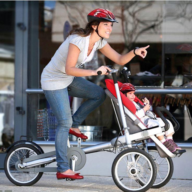 284.50$  Buy now - http://alio1u.worldwells.pw/go.php?t=32748294466 - Not Taga Bike Stroller Brand 16 Inch Folding Baby Stroller Mother Baby Bike Taga Stroller Bike Taga Bicycle Stroller Trailer