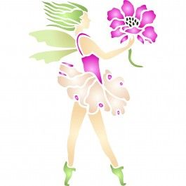 We just love the detail on our Flower Fairy Stencil. Perfect for a little girls bedroom. Cheap, easy to use and very effective. Stencilling is a versatile and exciting way to accessorize on any flat surface of your choice. Stencils for Walls' stencils produce high quality designs with minimum fuss.