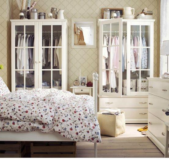 Ikea Birkeland Wardrobe w/ Glass Doors bedroom