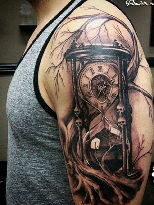 Hourglass Tattoos For Men : hourglass, tattoos, Hình, đồng, Cát,, Hourglass, Tattoo, Tattoo,, Sleeve, Tattoos, Designs,, Designs