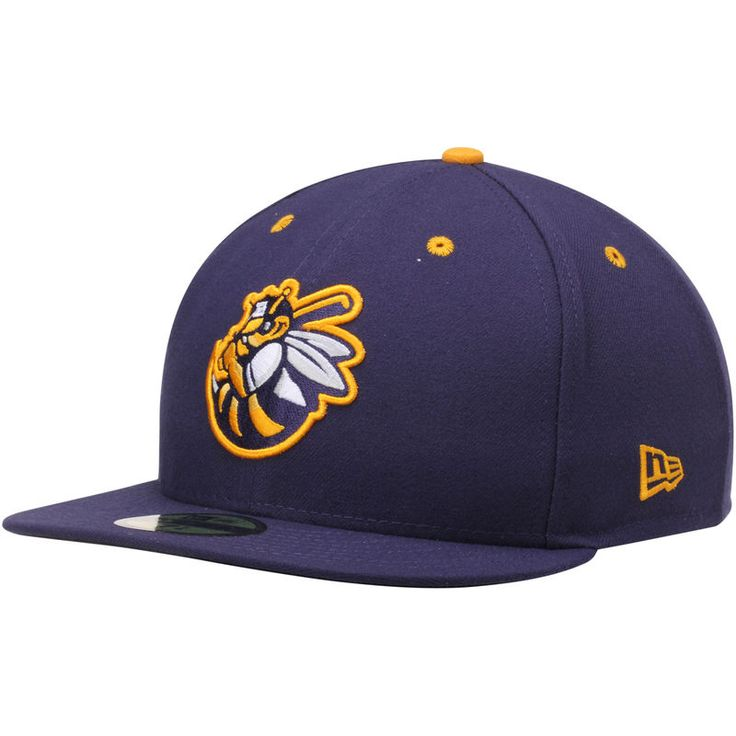 Burlington Bees New Era Authentic Road 59FIFTY Fitted Hat - Navy