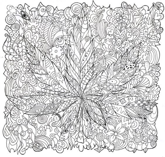stoner trippy weed coloring pages - photo#29