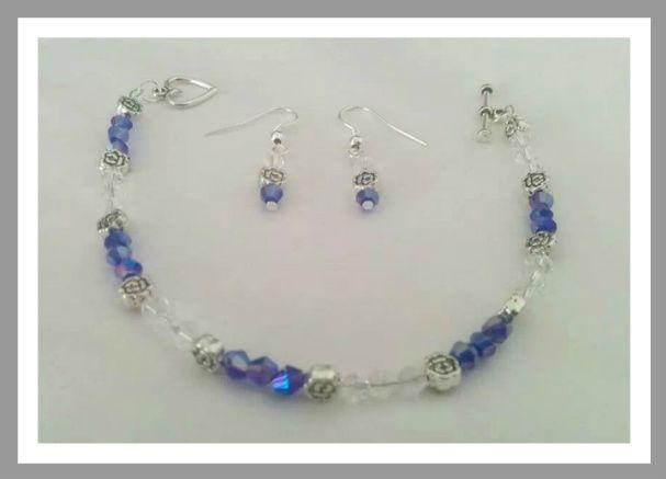 Blue &  Clear crystal set