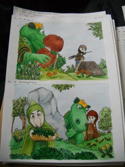 László Maya Süsü-illusztrációiból