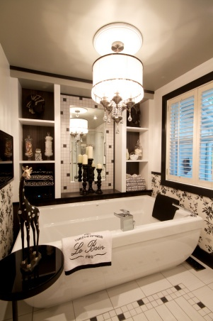 116 best Black & White Bathrooms images on Pinterest   Room ...