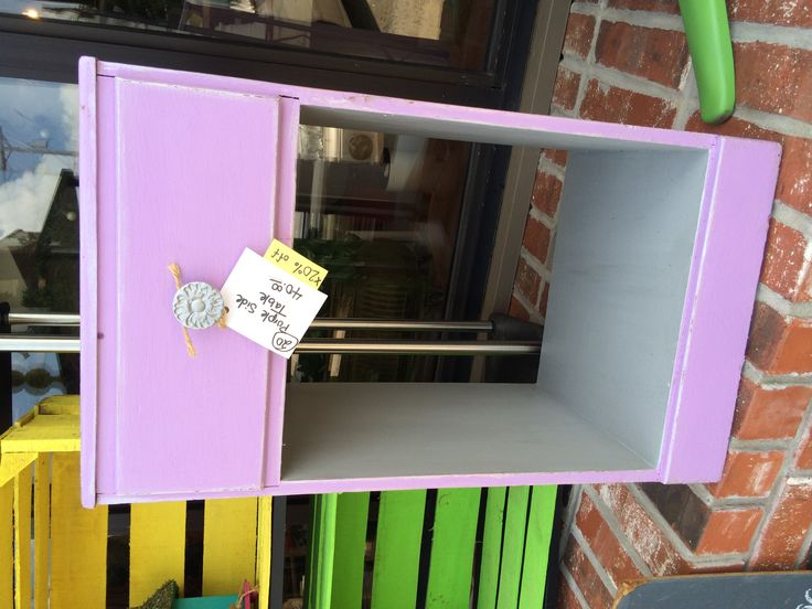 Cece caldwell enchanted lilac painted side table with cece for Cece caldwell kitchen cabinets