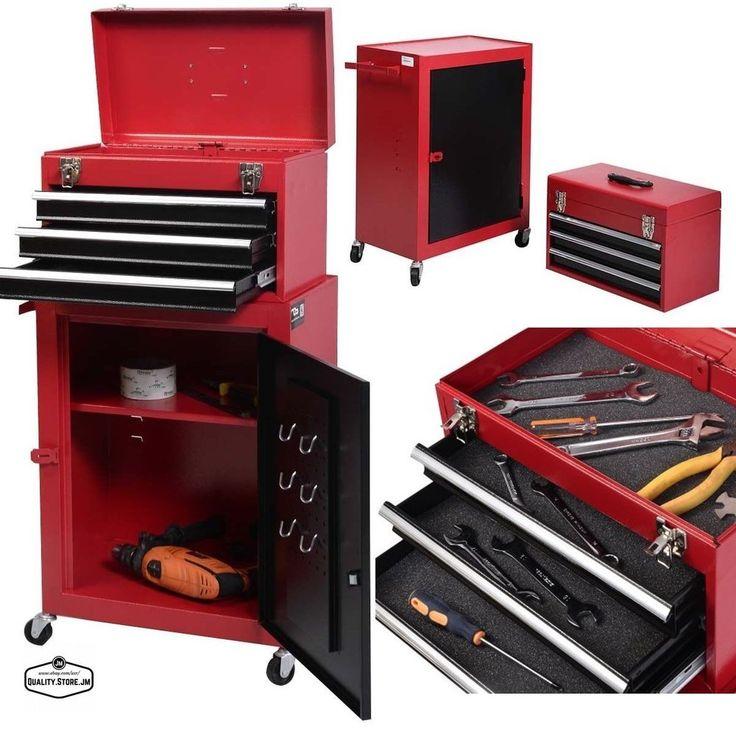Superbe 1 Set Mini Tool Chest U0026 Cabinet Storage Box Rolling Garage Toolbox Organizer  New