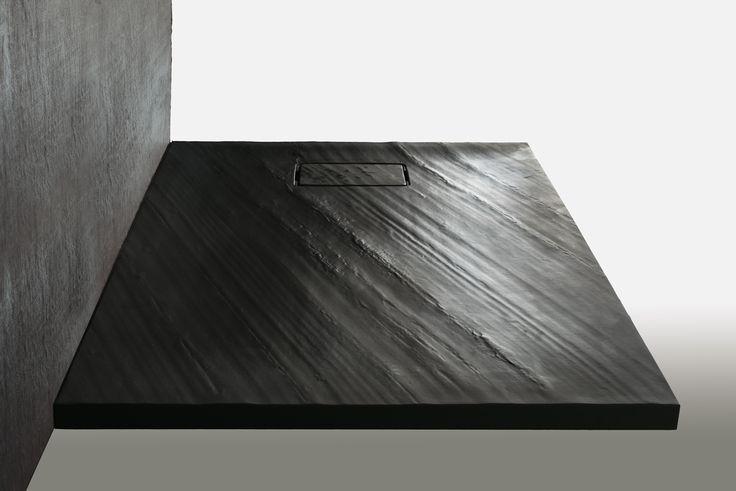 Piatto doccia in STONE, finitura colore nera