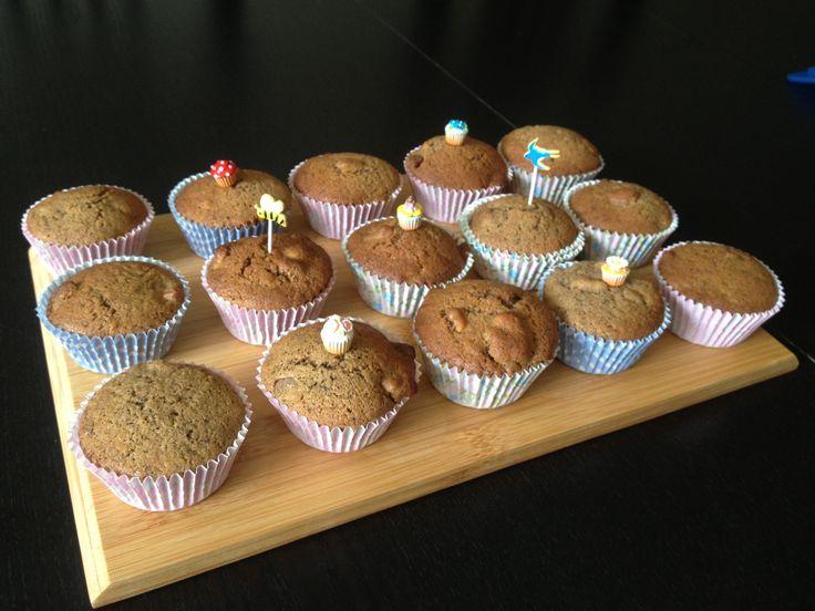 Coffee + walnuts cupcakes