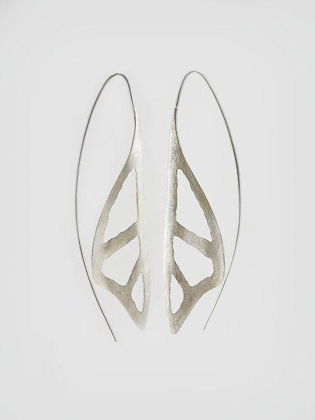 """Silber Ohrringe - Silber - Ohrhänger """"Schmetterlingsflügel&q... - ein Designerstück von solo1 bei DaWanda"""