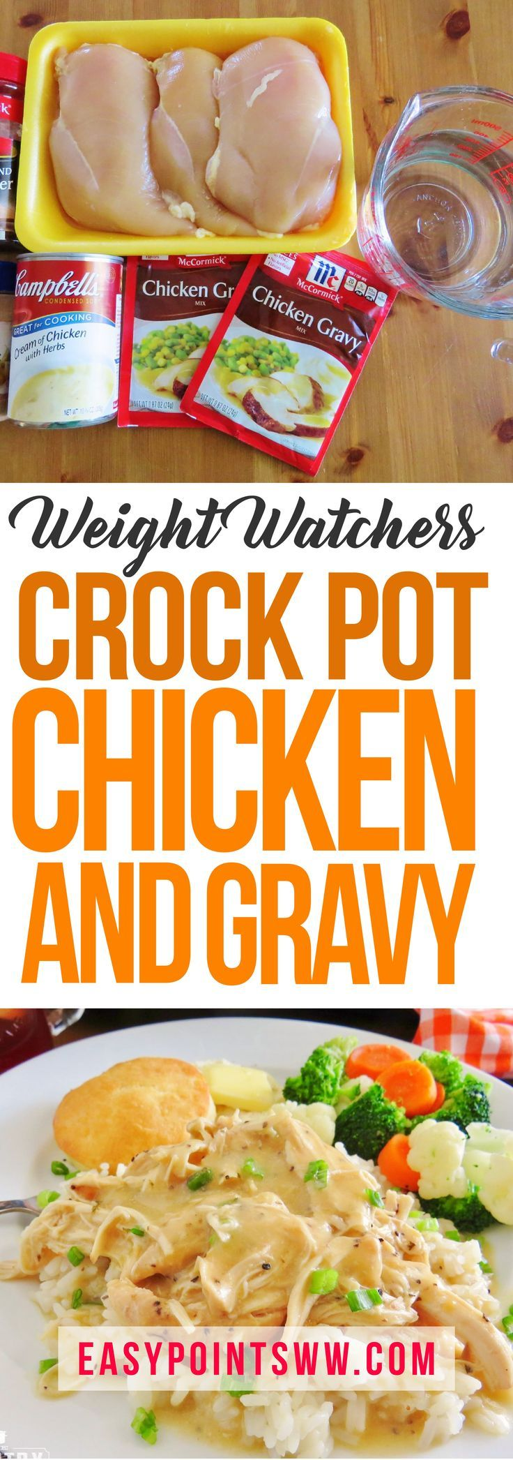 Weight Watchers Slow Cooker Chicken and Gravy ♥️ 4SP