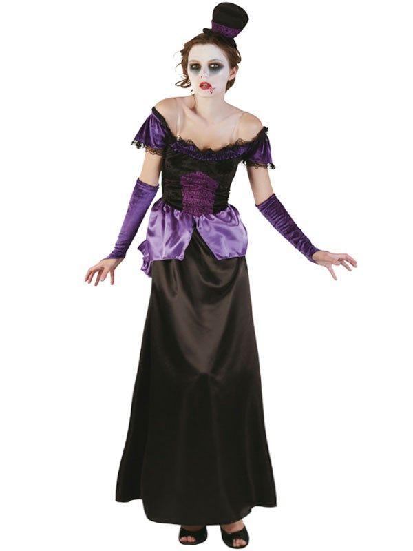 Grevinde kjole i sort og lilla kr. 175,00