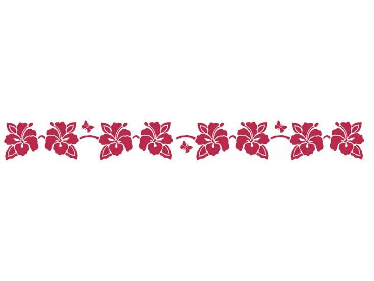 """Трафареты для бордюров """"Тропические цветы"""", 60х7 см,Stamperia, купить - магазин Арт Декупаж"""