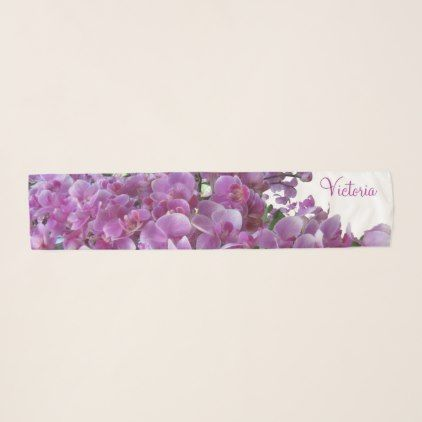 Purple Lilac Orchid Garden Square Chiffon Scarf  $33.47  by Monogrammed_Scarves  - custom gift idea