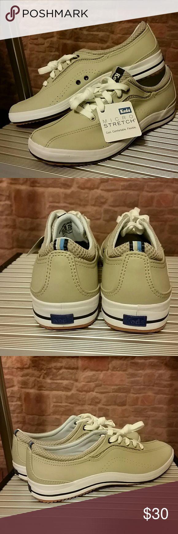 NIB Keds Tennis Shoe 7 PHOTOS - NIB Keds Sport Ladies Leather Size 9 Micro Stretch Keds Shoes Athletic Shoes