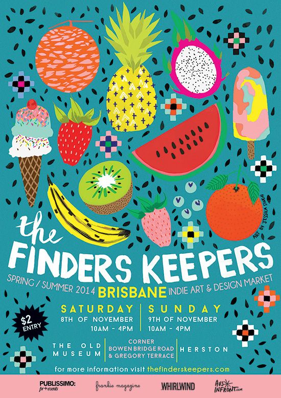 The Finders Keepers | Brisbane SS14 Markets | artwork by Jessica Singh Illustration