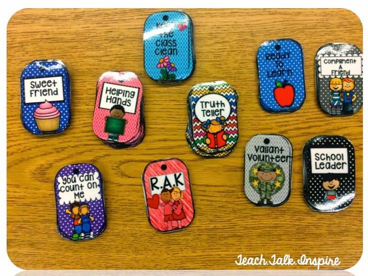 I've always thought about using Brag Tags. I think they may just be a PERFECT addition to the Super Improver Wall for next year. Kids can earn a tag for each rank they get. They'd LOVE collecting them! @jsablosky