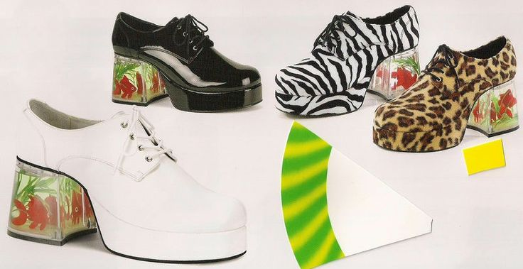 106 best images about 50th birthday on pinterest 80s for Platform shoes with fish
