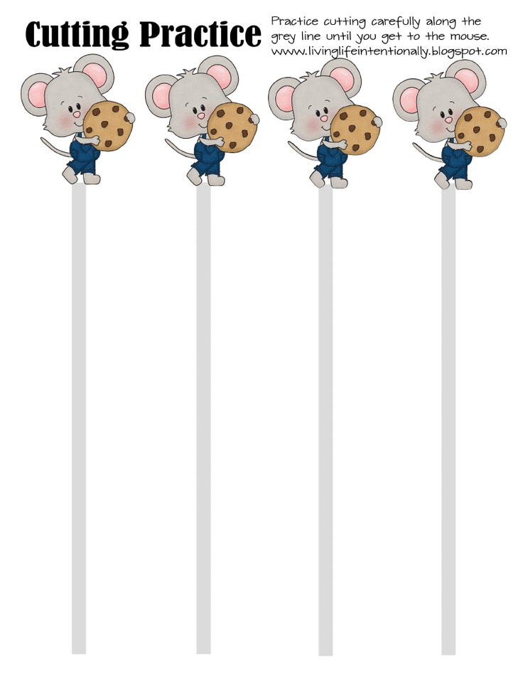 If you Give a Mouse a Cookie. great way for kids to practice cutting paper.