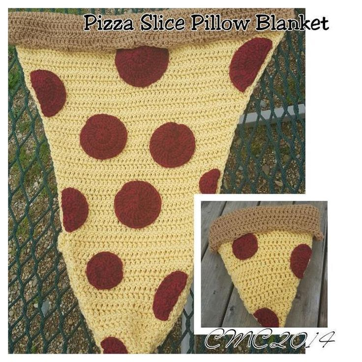 Pizza Slice Pillow Blanket | Craftsy