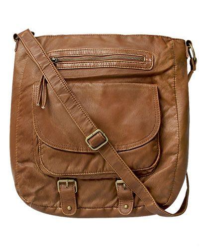 Bucket Buckle Crossbody Bag from WetSeal.com
