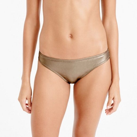 NWT Jcrew gold bikini bottom size medium Jcrew gold bikini bottom. NWT. I also have the matching rash guard. Size medium. J. Crew Swim Bikinis