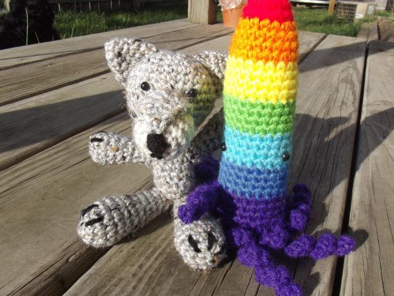 Amigurumi Crayola Squid by CraftCoalition on Etsy