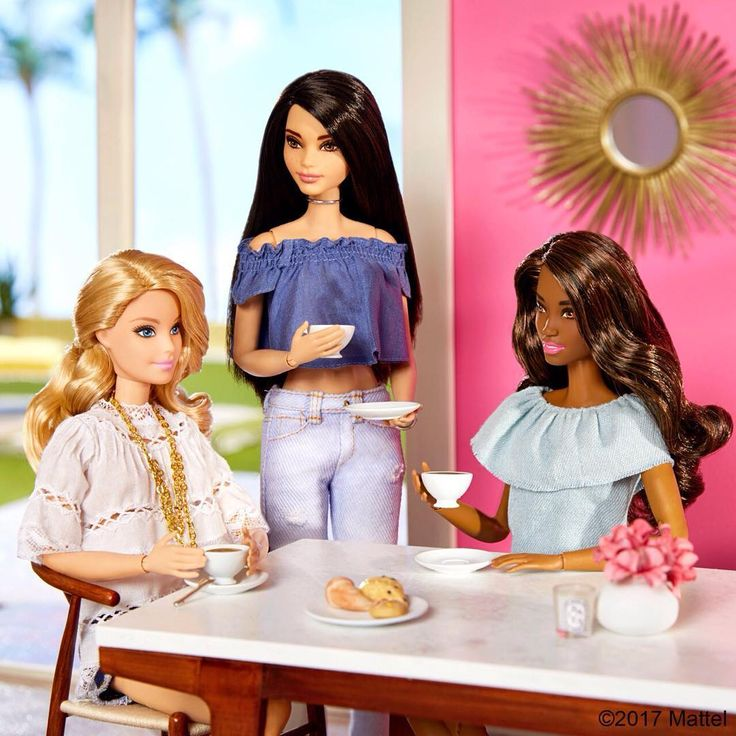 My ideal Sunday morning, catching up over coffee and croissants with my girls!  #barbie #barbiestyle